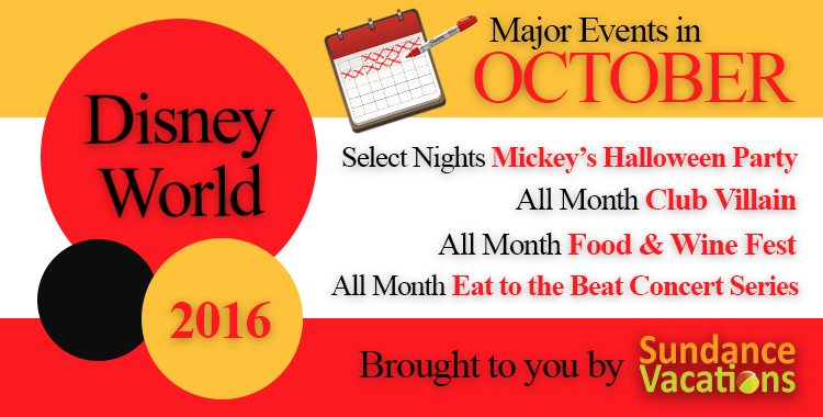 There are tons of things to do at Disney World in October 2016. Dress up for Mickey's Not-So-Scary Halloween Party, jam out to a DJ at Club Villain, eat your favorite cuisine at Epcot's International Food and Wine Festival, or rock out to the Eat to the Beat concert series!