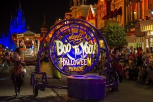 Mickey's Boo to You Halloween Parade has zombies, a Haunted Mansion float and so many more spooky characters to give you a Halloween thrill! (Ali Nasser, photographer, courtesy of Disney World)