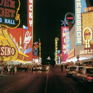 Fremont Street in the late 60s.